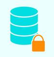 lock database icon simple minimal 96x96 pictogram vector image vector image