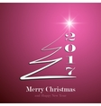 Marry Christmas and Happy New Year 2017 background vector image vector image