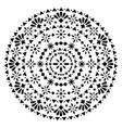 mexican mandala design monochrome folk art vector image
