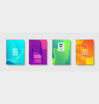 modern minimal colorful abstract background vector image vector image