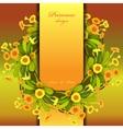 Orange yellow primroses wreath vector image vector image