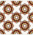 oriental seamless geometric fabric pattern vector image vector image