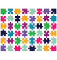 pieces of colorful puzzle vector image vector image