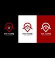 pin home logo design vector image vector image