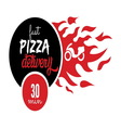 pizza delivery2 resize vector image vector image