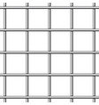 prison bars isolated on transparent vector image