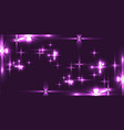 purple background with shining light metal stars vector image