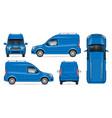 realistic van template vehicle mockup vector image vector image