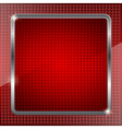 Red fluorescent background vector image vector image