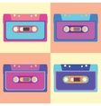 Retro cassette in flat style Set of vector image vector image