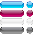 Rounded buttons on white background vector image vector image
