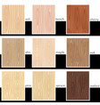 seamless stylized veneers different types vector image