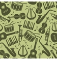 seamless vintage background with music instruments vector image