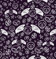 seamless voodoo pattern vector image vector image