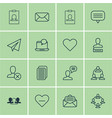 set of 16 social icons includes chatting person vector image vector image