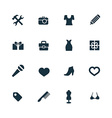 set of accessories icons vector image vector image