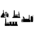 Set of industry icon silhouettes