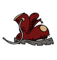 smelly old boot cartoon hand drawn image vector image