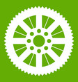 sprocket from bike icon green vector image vector image