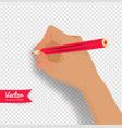 top view of female hand vector image vector image
