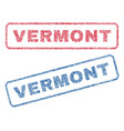 vermont textile stamps vector image vector image