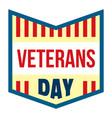 veterans day logo flat style vector image