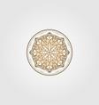 vintage mandala circle ethnic culture design vector image vector image