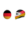 white motorbike classic helmet with germany flag vector image vector image