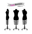 woman body black mannequins vector image vector image
