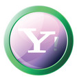 yahoo platform logo inside a green circle icon on vector image vector image