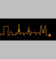zurich light streak skyline vector image