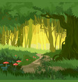 fabulous bright green summer magical forest vector image