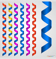 colorful ribbon collection isolated on white vector image