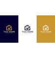 abstract building house logo design template vector image vector image