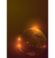 Abstract Triangles Planet Earth in Space vector image vector image