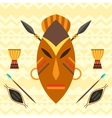 African ethnic background with of mask vector image