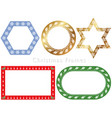 assorted frames for the christmas season vector image