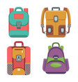 bags color icons vector image