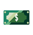 banknote money dollar vector image