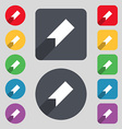 bookmark icon sign A set of 12 colored buttons and vector image
