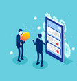 business characters create new idea teamwork vector image