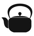 chinese teapot icon simple style vector image