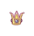 cute crown for princess vector image vector image
