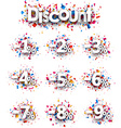 Discount signs paper set vector image vector image