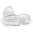 drawing colosseum vector image vector image