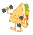 Exercise stronger cute sandwich vector image