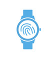 finger id print smart technology smartwatch vector image