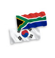 flags south korea and republic south africa vector image