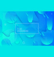 geometric background with modern fluid shapes vector image