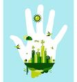 Go green city hand concept vector image vector image